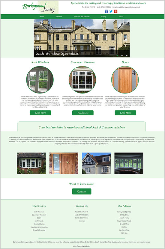 Barleywood Joinery Website