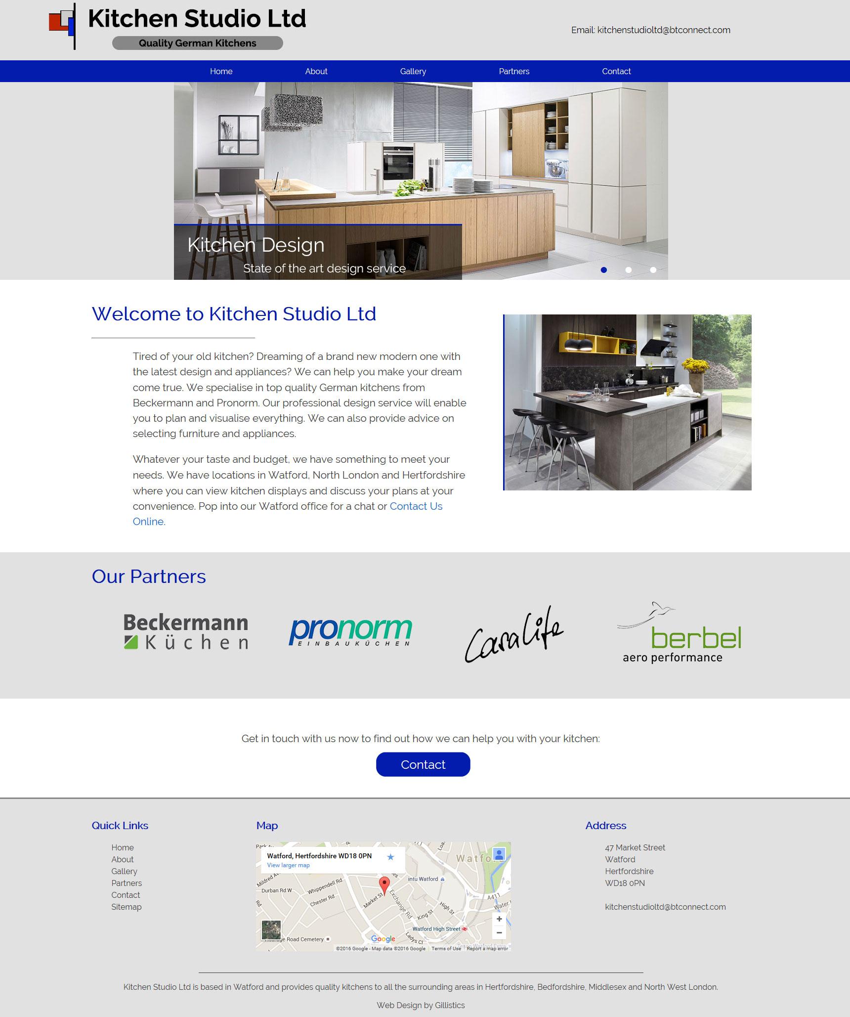 Portfolio Gillistics Kitchen Studio Ltd – Bespoke Web Design in St ...