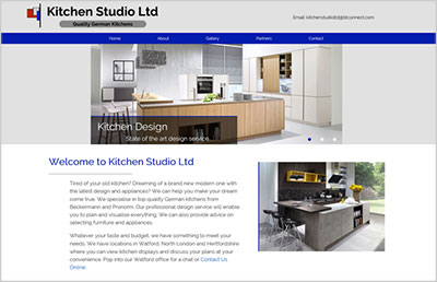 Kitchen Studio Ltd Website Design
