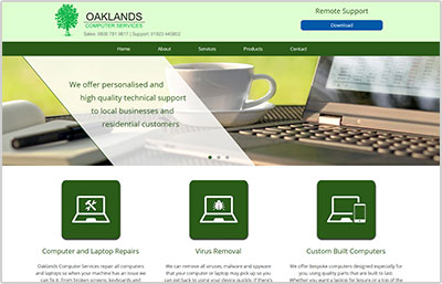 Oaklands Website Design