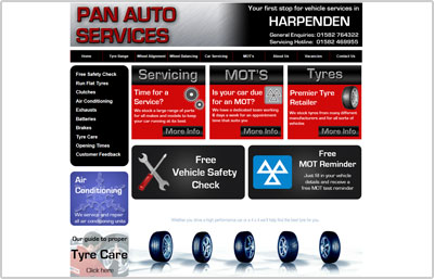 Pan Autos Website Design